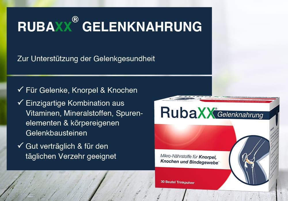RubaXX Gelenknahrung – der intelligente Mikro-Nährstoffkomplex